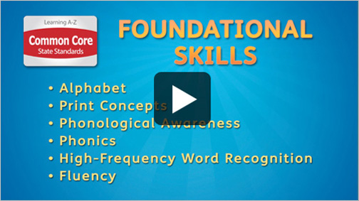 Common Core State Standards Foundational Skills video