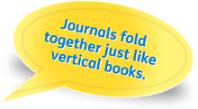 Journals fold together just like vertical books