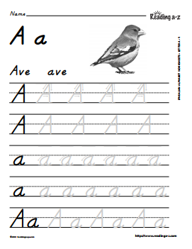 Spanish alphabet letter formation practice worksheets reading a z spiritdancerdesigns Gallery