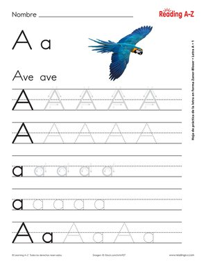 photograph about Spanish Alphabet Printable known as Spanish Alphabet Letter Development Train Worksheets