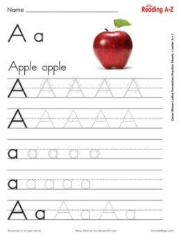 Alphabet Letter Formation Practice Sheets   Reading A Z